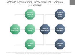 Methods For Customer Satisfaction Ppt Examples Professional