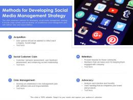 Methods For Developing Social Media Management Strategy