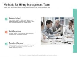 Methods For Hiring Management Team Project Management Team Building Ppt Themes