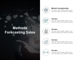 Methods Forecasting Sales Ppt Powerpoint Presentation Portfolio Format Cpb
