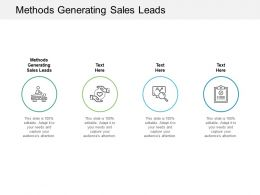 Methods Generating Sales Leads Ppt Powerpoint Presentation Summary Inspiration Cpb