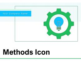 Methods Icon Business Innovation Growth Process Gear Completion Manufacturing