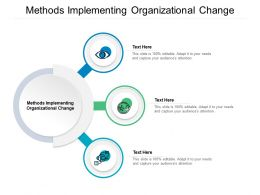 Methods Implementing Organizational Change Ppt Powerpoint Presentation Icon Show Cpb