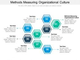 Methods Measuring Organizational Culture Ppt Powerpoint Presentation Portfolio Graphics Cpb