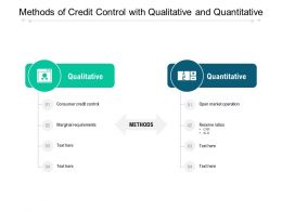 Methods Of Credit Control With Qualitative And Quantitative