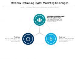 Methods Optimising Digital Marketing Campaigns Ppt Powerpoint Presentation Inspiration Cpb