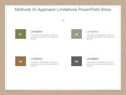 Methods Or Approach Limitations Powerpoint Show