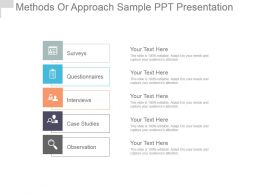 Methods Or Approach Sample Ppt Presentation