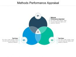 Methods Performance Appraisal Ppt Powerpoint Presentation Infographic Template Visual Cpb