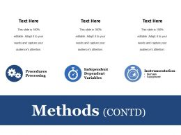 Methods Ppt Infographics