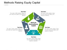 Methods Raising Equity Capital Ppt Powerpoint Presentation Deck Cpb