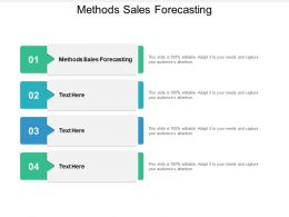 Methods Sales Forecasting Ppt Powerpoint Presentation Inspiration Rules Cpb