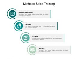 Methods Sales Training Ppt Powerpoint Presentation Pictures Format Ideas Cpb