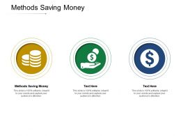 Methods Saving Money Ppt Powerpoint Presentation Professional Clipart Cpb