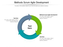Methods Scrum Agile Development Ppt Powerpoint Presentation Summary Template Cpb