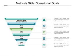 Methods Skills Operational Goals Ppt Powerpoint Presentation Ideas Background Cpb