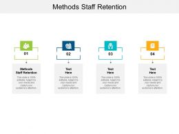 Methods Staff Retention Ppt Powerpoint Presentation Outline Icon Cpb