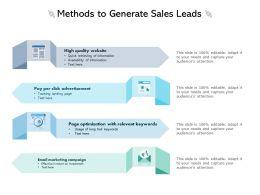 Methods To Generate Sales Leads