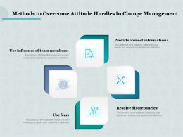 Methods To Overcome Attitude Hurdles In Change Management