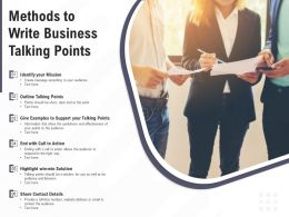 Methods To Write Business Talking Points