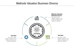 Methods Valuation Business Divorce Ppt Powerpoint Presentation Icon Graphics Download Cpb
