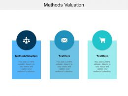 Methods Valuation Ppt Powerpoint Presentation Styles Deck Cpb