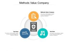 Methods Value Company Ppt Powerpoint Presentation Pictures Mockup Cpb