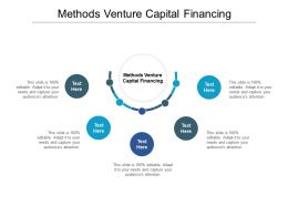 Methods Venture Capital Financing Ppt Powerpoint Presentation Icon Information Cpb