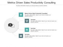 Metrics Driven Sales Productivity Consulting Ppt Powerpoint Presentation Slides Cpb