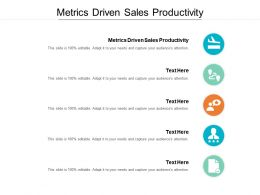 Metrics Driven Sales Productivity Ppt Powerpoint Presentation Infographic Template Tips Cpb