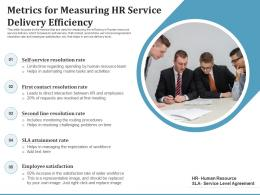 Metrics For Measuring HR Service Delivery Efficiency