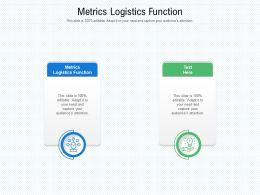 Metrics Logistics Function Ppt Powerpoint Presentation Example File Cpb