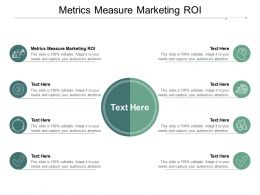 Metrics Measure Marketing ROI Ppt Powerpoint Presentation Backgrounds Cpb