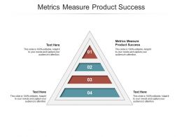 Metrics Measure Product Success Ppt Powerpoint Presentation Pictures Portfolio Cpb
