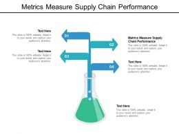 Metrics Measure Supply Chain Performance Ppt Powerpoint Presentation Summary Graphics Download Cpb