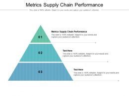Metrics Supply Chain Performance Ppt Powerpoint Presentation Styles Tips Cpb