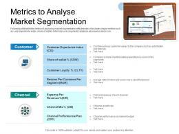 Metrics To Analyse Market Segmentation
