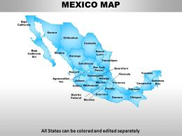 Mexico Country Powerpoint Maps