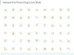 Mezzanine Financing Icons Slide Ppt Powerpoint Presentation Gallery Design Inspiration