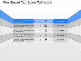 mf Five Staged Text Boxes With Icons Powerpoint Template