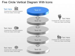 Mg Five Circle Vertical Diagram With Icons Powerpoint Template Slide
