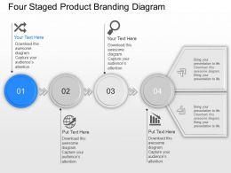 Mh Four Staged Product Branding Diagram Powerpoint Template Slide