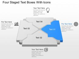 mh Four Staged Text Boxes With Icons Powerpoint Template