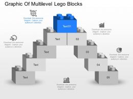 mh Graphic Of Multilevel Lego Blocks Powerpoint Template