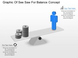 mi Graphic Of See Saw For Balance Concept Powerpoint Template