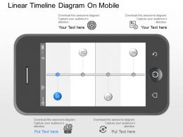 mi Linear Timeline Diagram On Mobile Powerpoint Template