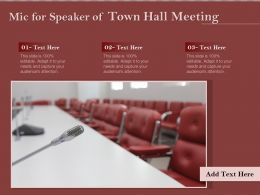 Mic For Speaker Of Town Hall Meeting