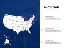 Michigan Map Powerpoint Presentation PPT Template