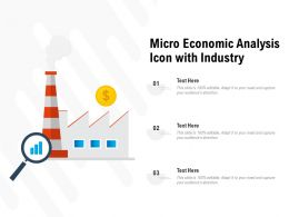 Micro Economic Analysis Icon With Industry