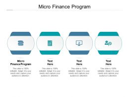 Micro Finance Program Ppt Powerpoint Presentation Model Influencers Cpb